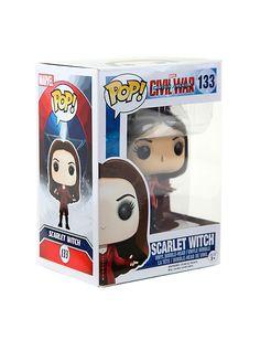 Funko Marvel Captain America: Civil War Pop! Scarlet Witch Vinyl Bobble-Head,