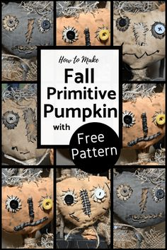 Crafts Printable How to make a fall primitive pumpkin head on a stick. This fall decorating crafts are fun and simple. FREE Printable Pattern and instructions. Easily create many fall primitive pumpkin faces DIY tutorial. Primitive Doll Patterns, Doll Patterns Free, Craft Patterns, Free Pattern, Clothes Patterns, Primitive Halloween Crafts, Primitive Christmas, Country Christmas, Christmas Christmas