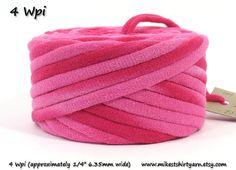 Fabric T Shirt Old Fabric Yarn http://www.aliexpress.com/store/1687168   Recycled T Shirt Yarn. Pink Tie Dye. 24 Yards 4 Wraps Per Inch. Rug Yarn.