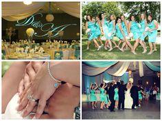 Tiffany blue wedding colour palette