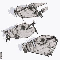 ArtStation - Star Wars Sketches (Part Matty Devin Brown Rpg Star Wars, Film Star Wars, Star Wars Ships, Star Wars Poster, Star Trek, Spaceship Art, Spaceship Design, Spaceship Concept, Concept Ships