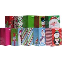 Holiday Time Whimsy Value Pack Gift Bags, 10 ct, Multicolor