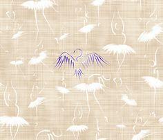 Le_lac_des_cygnes_toile_danseuse_blanche fabric by un_temps_de_coton on Spoonflower - custom fabric