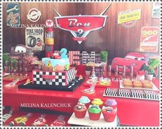 Disney Cars birthday party! See more party planning ideas at CatchMyParty.com!