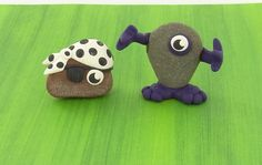 Find rocks in your backyard and make them into your favorite characters.