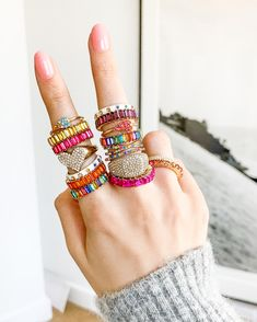 18 Best Rainbow Rings images in 2019 | Charm bracelets
