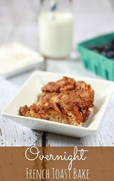 Overnight French Toast Bake recipe from simplybeingmommy.com. An easy breakfast recipe for lazy Saturdays mornings.