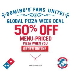 Dominos coupons get 50 off at dominos pizza with the latest dominos coupon dominos promo code from the coupons app pizza is off online all week at dominos june fandeluxe Image collections