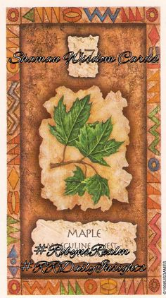 #Shaman_Wisdom Cards #Maple #Masculine #Jupiter #West #Air Give when you can. Be generous with your heart and your love. Forgive others their actions. **Find me on #Tsu Click on this link https://www.tsu.co/RobynsRealm #RRDailyInsight #RobynsRealm #RobynDMartland #Robyn #Tarot #Oracle #Animal_Speak #Pictish #Runes #Readings #HandMade #CustomOrders #DreamCatchers #Jewellery #Photography #Middlewich #Cheshire