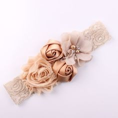 Shabby Lace Baby Headband Chic Flower Girls Headband Hair Bow Flower Headband