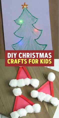 You'll find here a collection of the best easy and fun DIY Christmas Crafts for Kids and Preschoolers to make with parents - paper ornaments printables and cute treats. Christmas Arts And Crafts, Diy Christmas Cards, Simple Christmas, Kids Christmas, Holiday Crafts, Christmas Decor, Cute Crafts, Diy Crafts, Easy Diy