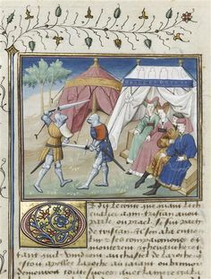 tent and illumination - idea for knighting or hasta scroll Medieval Books, Medieval World, Medieval Manuscript, Medieval Art, Illuminated Manuscript, Cool Tents, Female Knight, Renaissance Era, Marquise