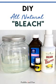 Non Toxic Homemade Bleach Alternative Recipe, Diy And Crafts, This all natural non toxic DIY bleach works so incredibly well, I will never go back to traditional bleach! I never thought you could efficiently whit. Young Living Oils, Young Living Essential Oils, Essential Oil Blends, Homemade Cleaning Products, Natural Cleaning Products, Natural Cleaning Recipes, Household Products, Household Cleaners, Household Tips