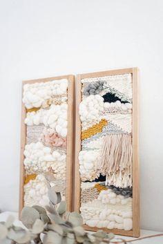 Tissage weaving by julie robert – sodapop-design – weberei Weaving Wall Hanging, Weaving Art, Loom Weaving, Tapestry Weaving, Wall Hangings, Hand Weaving, Style Deco, Weaving Projects, Art Projects