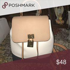 Navy blue and cashmere cream Aldo Bag Beautiful bag perfect for gifts or daily use. Comfortable Aldo Bags Backpacks