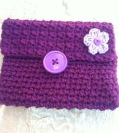 Purse Clutch Wallet Bag in Pretty Purple by GrammaLeas on Etsy, $8.50