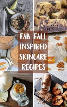 Fall Skin Care Recipes to make right now! 12 DIY fall craft ideas for people obsessed about skin care! Homemade recipes for fall inspired DIY soaps, homemade salt scrubs, DIY bath bombs and more natural bath and beauty recipes that you can DIY! Homemade Beauty Recipes, Natural Beauty Recipes, Soap Recipes, Dessert Recipes, Homemade Moisturizer, Homemade Skin Care, Diy Skin Care, Homemade Scrub, Sweets