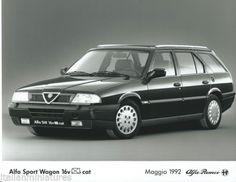 Alfa-Romeo-33-Sport-Wagon-16V-Q4-Cat-Original-Black-White-Press-Photograph-1992