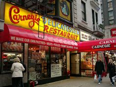 The best place to get a sandwich in New York City. Don't forget the cheesecake. Or the knish.