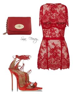 """Untitled #134"" by sara-elizabeth-feesey on Polyvore featuring Agent Provocateur, Dsquared2 and Mulberry"