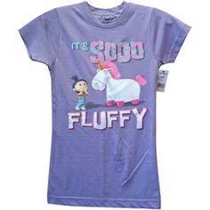 "despicable me 2 kids clothes   Despicable Me Unicorn T-Shirt ""It's so Fluffy Kids Lavender (ALL SIZES ..."