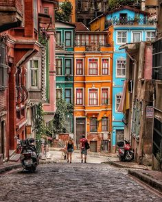 Colors of Balat ~ Istanbul, Turkey PhotYou can find Istanbul turkey and more on our website.Colors of Balat ~ Istanbul, Turkey Phot Cool Places To Visit, Places To Travel, Travel Destinations, Travel Trip, Istanbul Places To Visit, Europe Places, Travel Hacks, Travel Guide, Turkey Photos