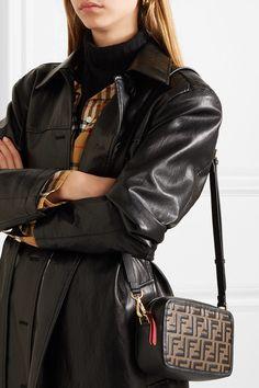 961d532f91dc Fendi | Embossed leather camera bag | NET-A-PORTER.COM Leather Camera