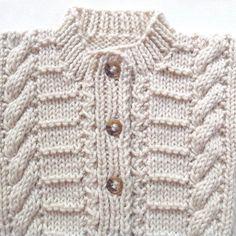Cardigan bebé de Aran 6 a 12 meses suéter de por LurayKnitwear
