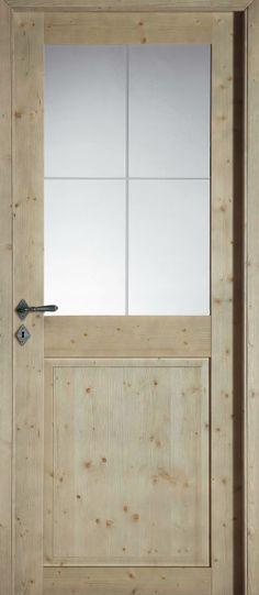 Décor de porte de 2 panneaux traverse droite en bois exotique à - Peindre Des Portes En Bois