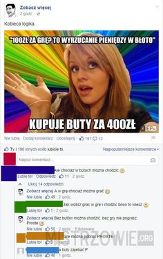 Najlepsze teksty mistrzów internetu #205 – Demotywatory.pl Very Funny Memes, Wtf Funny, Funny Cute, Polish Memes, Im Depressed, Smile Everyday, Gaming Memes, Stupid People, Best Memes