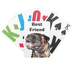"Large Print Playing Cards Macular Degeneration. TYPE in YOUR TEXT in the TEXT BOX Template.  Give a gift of love and joy. Pet Lovers Gifts for People. Many of the Dog Lovers Gifts are Customizable. To view ALL Pet Lovers Gifts for People CLICK HERE: http://www.zazzle.com/littlelindapinda/gifts?cg=196190382639559148&rf=238147997806552929*/  Type in YOUR TEXT into TEXT BOX(ES) beneath ""Personalize it"" section.   ALL of Little Linda Pinda Designs CLICK HERE…"