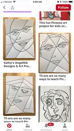 Kirigami, High School Art, Middle School Art, Kids Art Class, Art For Kids, Atelier Creation, Picasso Art, Art Worksheets, Kids Abstract Art
