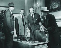 Sterling Hayden, Brad Dexter, Louis Calhern, and Sam Jaffe.  'The Asphalt Jungle'.  1950.
