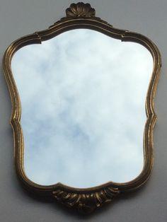 kultakehyksinen ranskalainen vintage peili . golden French vintage mirror 57 x 38 cm