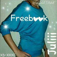Freebook Damenshirt *Juliii* - Fledermausarm Shirt, Fledermausärmel - XS-XXXL - Auch als Kinder Version erhältlich - Babyschuhfabrik