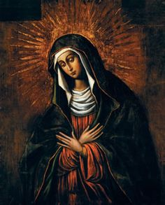 The Hail Mary is based on verses from Luke's gospel (1: 28, 42).  In the second part, we ask her to pray for us.