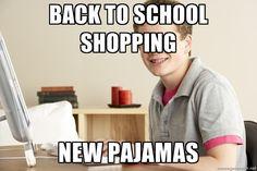 Back to school Shopping New Pajamas    Homeschool Harold