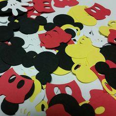 Mickey mouse Confetti, Happy Birthday Confetti, Mickey mouse birthday confetti, Mickey birthday party, Birthday Confetti Mickey collection