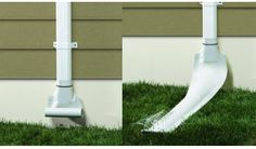 Automatic recoiling downspout. Courtesy Raindrain.