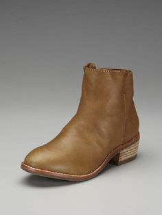Maiden Lane Tan Leather Ankle Bootie Size 10 for $140.00. Simple lines with an updated edgy style. These gorgeous soft Tan leather boots are the perfect pair of transition boots. Great with skirts, jeans. These boots are terrific for any season or look and their fabulous color, goes with everything - well almost.