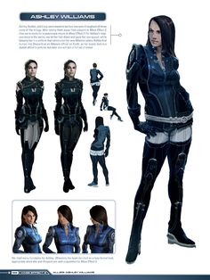 """Mass Effect Concept Art - Ashley Williams - I kinda wish they would have kept her hair up. I might have taken her more serious in the game if she hadn't gotten more """"sultry"""""""