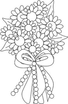 wedding bouquet coloring pages 1 Wedding Bouquet Coloring Pages