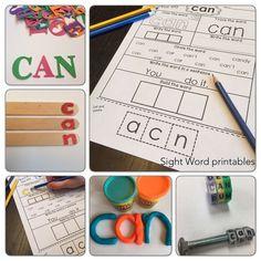https://www.teacherspayteachers.com/Product/Sight-Word-Activities-1400140