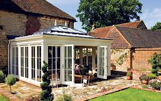 minimalist glass conservatory
