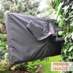 Outdoor TV Cover 52-55 inch - WITH ZIPPER, Weatherproof, Waterproof 360 degrees protection, Soft Non Scratch Interior