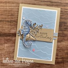 themeless first birthday Masculine Birthday Cards, Masculine Cards, Happy Birthday Cards, Happpy Birthday, Nautical Cards, Beach Cards, Stampin Up Catalog, Fathers Day Cards, Stamping Up Cards
