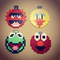 The Muppets Christmas baubles hama beads by mammavpysslar