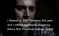 I Can Dig Elvis | Confession: I listened to Blue Christmas this year and I sobbed ... >>> GO TO YOUR FUCKING ROOM Jensen Ackles, Great Love Stories, Love Story, Blue Christmas, Christmas Time, Bae, Dean And Castiel, Twist And Shout, All The Feels