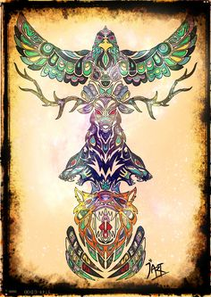 Totem Pole Print