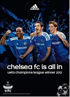 Sad to see Drogba leave :'( Thanks for the last 8 yrs with us. Chelsea Fc Team, Go Blue, Uefa Champions League, Blues, Football, Sad, Soccer, Adidas, Events